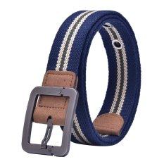 Canvas Strap Pin Buckle Men Belt (Blue) - INTL