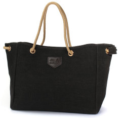 Canvas Tote Shoulder Bag Handbag Satchel Messenger Shopping Bag Black