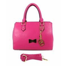 Carlo Rino 0303014-101-44 Plain color satchels (Fuchsia)
