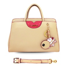 Carlo Rino 0303089-001-21 Top handle satchel (Beige )