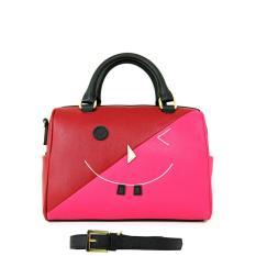 Carlo Rino 0303262-001-04 Two-tone boston bag (Red)