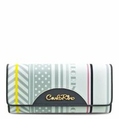 Carlo Rino 0303271-502-28 Grey Long Three Fold Wallet (Grey)