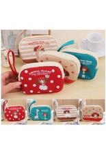 Cartoon Girls Coin Small Cute Purse Mini Bag Kids Wallets Zipper Pouch Red BB109-SZ +