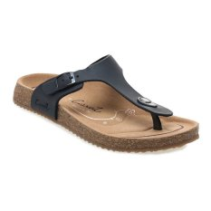 Carvil Khanza-02L Footbed Sandal Wanita - Hitam