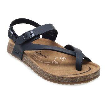 Carvil Khanza - 09L Footbed Sandal Wanita - Hitam