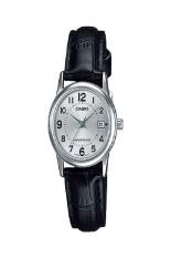 Casio Analog Jam Tangan Wanita - Putih - Strap Kulit - LTP-V002L-7B