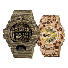 Casio G-Shock And Baby-G Couple Camouflage Resin Strap Watch GD-X6900CM-5 & BA-110LP-9A (Int: One Size)