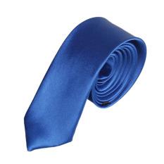 Casual Slim Plain Mens Solid Skinny Neck Party Wedding Tie Necktie Blue