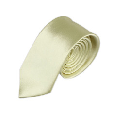 Casual Slim Plain Mens Solid Skinny Neck Party Wedding Tie Necktie Yellow