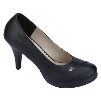 Catenzo Ac 822 Sepatu High Heels Wanita Party/Casual-Sintetis-Fiber Outsole + 9 Cm-Modis Dan Lucu (HITAM)