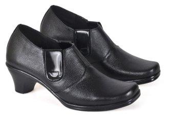 CBR Six PUC 701 Sepatu Pantofel/ Moccasin/ Forma/ kerja Wanita - Elegan - Kulit Asli - Hitam