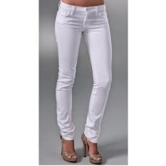 Celana Jeans Wanita Panjang - Putih
