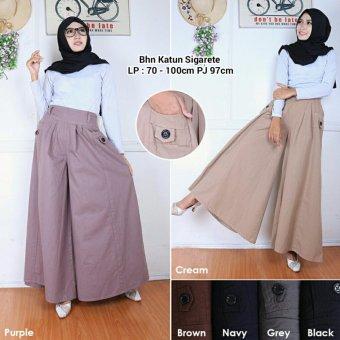 Celana kulot rok jumbo wanita long pant Fansira - purple