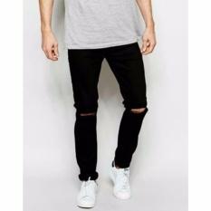 Celana Murah Jeans Ripped Sobek Hitam