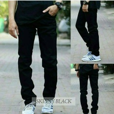 Celana Pria/Cowok Skinny Jeans / Levis / Denim [Hitam] Celana Jeans Panjang