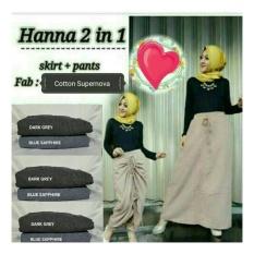 Celana Rok Serut - Hanna 2 in 1 (skirt & pant)