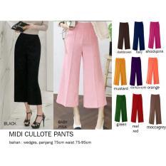 Celana Wanita | Celana Kasual-Formal | Celana Crop Wanita | Midi Kulot Pants |
