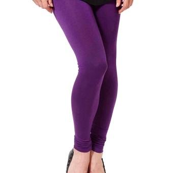 Celana Wanita Legging Polos Ungu - Ukuran Standar dan Jumbo