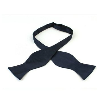 Channy Fashion Adjustable Men's Multi Colors Self Bow Tie Necktie Ties Neckwear Cravat Navy