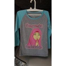 Charly Kaos Anak Perempuan / Baju Anak Muslim 01 - Multicolour