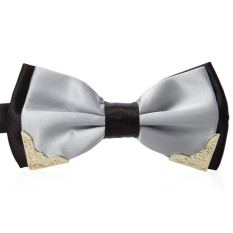 Chic Metal Decorated Bow Tie For Wedding Dress - T05 (Silver)