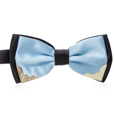 Chic Metal Decorated Bow Tie For Wedding Dress - T18 (Blue)