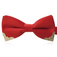 Chic Metal Decorated Bow Tie For Wedding Dress - T27 (Red)