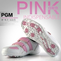 Child Girls Sport Sneakers Golf Shoes Size 32-35 Color White Pink Intl - intl