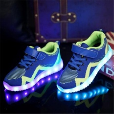 Children Shoes Light Led luminous Shoes Glowing Sneakers Boys Girls USB Charging Sport Shoes Casual Led Shoes - intl