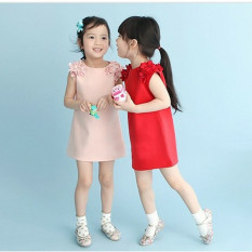 Children's summer dress fashion clothing explosion Princess Dress cute Korean girls skirt-pink - intl