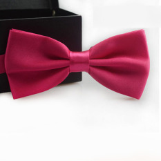 Classic Fashion Novelty Mens Adjustable Tuxedo Wedding Bow Tie Necktie Hot Pink