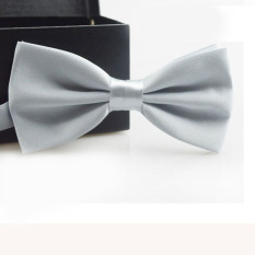 Classic Fashion Novelty Mens Adjustable Tuxedo Wedding Bow Tie Necktie Silver