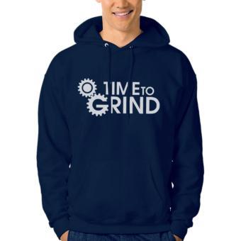 Clothing Online Hoodie Time To Grind - Navy