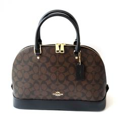 Coach Sierra Large Dome Satchel in Signature Canvas F37233 (Brown/Black)