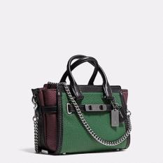 Coach Swagger 20 with Chain in Pebble Leather - Green
