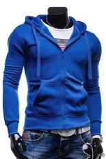 Cocotina Men's Sport Slim Hoodie Coat Hooded Sweatshirt Leisure Lightweight Jacket Outwear (Blue)