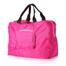 Cocotina Multi-purpose Unisex Waterproof Folding Shoulder Handbag Shopper Tote Beach Shopping Travel Storage Bag - Rose Red