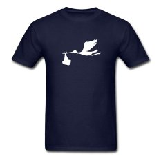 CONLEGO Personalize Men's Storck Bird Flying T-Shirts Navy
