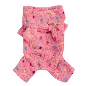 Coral Fleece Dog Hoodie Warm Coat Pet Cat Dog Jacket Apparel Puppy Clothes - Intl