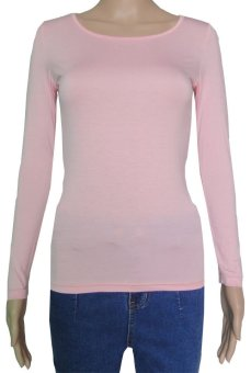 COSIVIA Cotton Muslim long sleeve half-length T shirt  pink