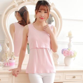 152a269d875ca Harga Cotton Nursing Tank Tops Summer Breastfeeding Vest Clothes for ...