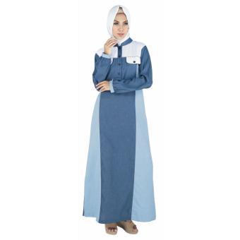 ( Couple ) Raindoz Pakaian Muslim Sarimbit Wanita RGSx047 Biru