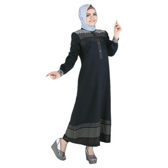 ( Couple ) Raindoz Pakaian Muslim Sarimbit Wanita RGSx049 Hitam