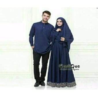 couple store cs - baju muslim dress couple elegant navy