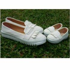 Coupleshoes Loafer Putih Mom and Kid Sepatu Wanita
