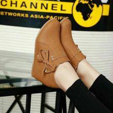 Cremline - Sepatu Wanita Boots Pita - Tan