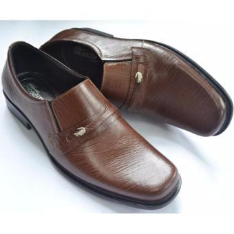 Crocodile Sepatu Formal Sepatu Kerja - Sepatu Pantofel Pria - Kulit Asli  Pria - A2 Coklat 76d4472b82