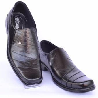 Crocodile Sepatu Kulit Sepatu Kerja Pria Branded Sepatu Pantofel Pria - A9  - Hitam a7ffb5b7db
