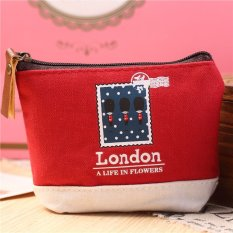 Cute Girl Coin Purse Wallet Clutch Change Purse Key / Coin Bag Mini Handbag Pouch (Red)