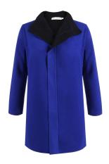 Cyber New Fashion Winter Women's?Blue?Brief Long Sleeve Coat Jackets (Blue)